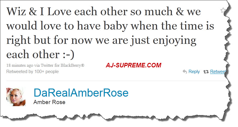 amber rose pregnant by wiz khalifa. guys that Amber Rose was