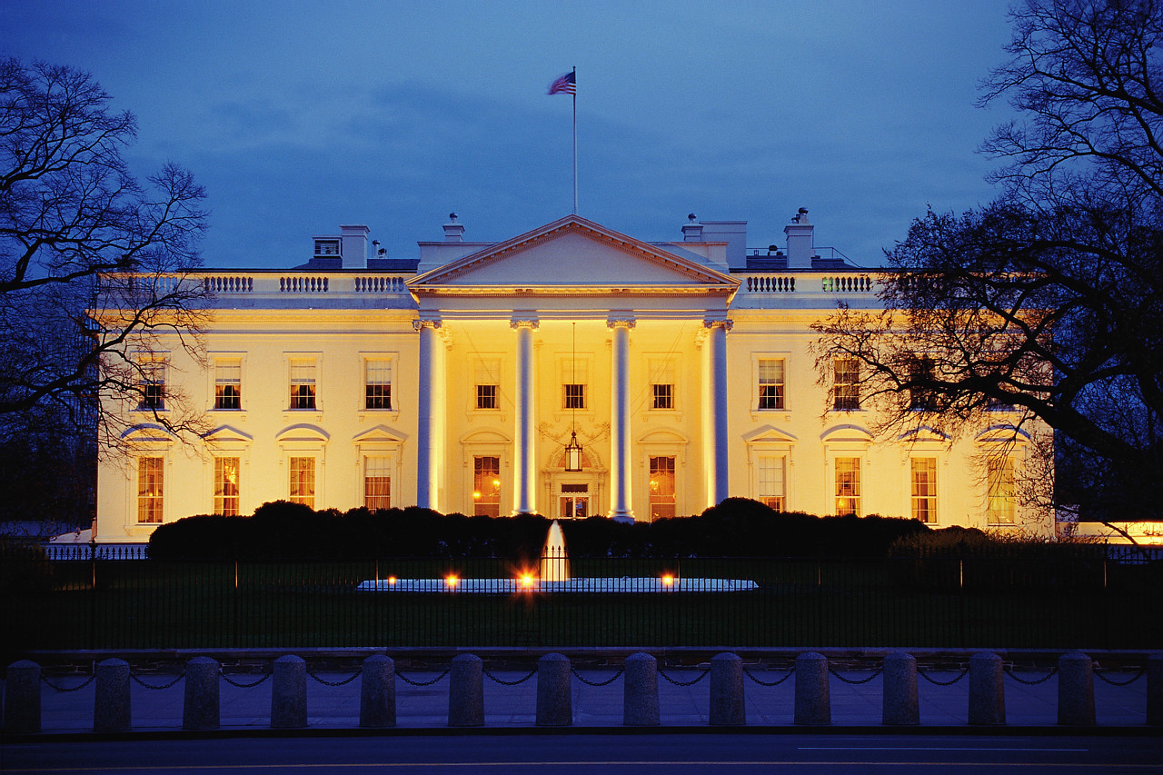 Image result for white house america at night